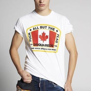 Dsquared2 D2 Canadian Flag T-Shirt